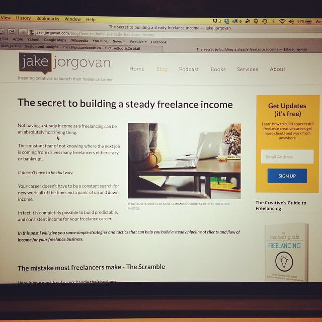 Awesome post by @jakejorgovan about free lance work, but it's really true of any business!  www.jake-Jorgovan.com