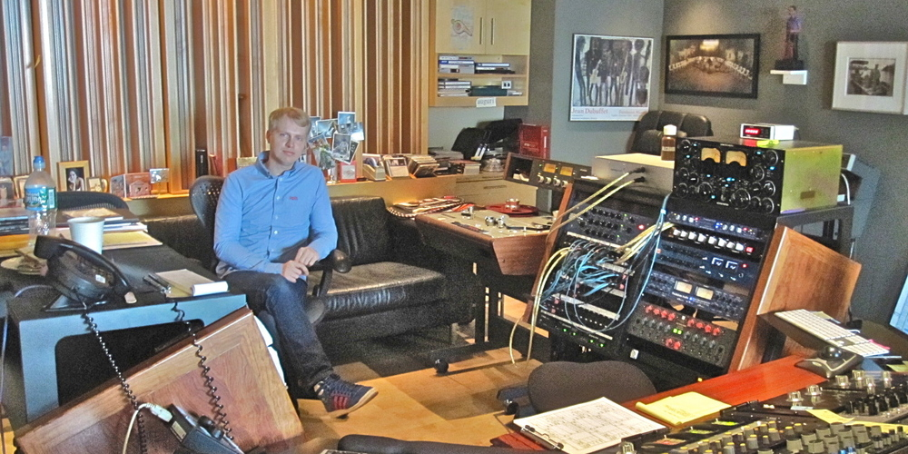 Greg Calbi's studio at Sterling Sound, NYC, during the mastering of Breakfast Included's Welcome to Today.