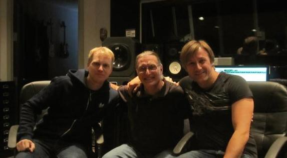 Shaun Michau,  Dave Darlington and Jason Reolon   at Bass Hit Studios, NYC