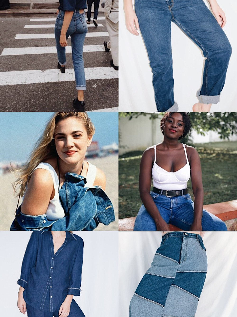 This is a denim moodboard if I ever saw one