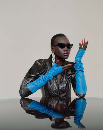 Alek wek for V magazine