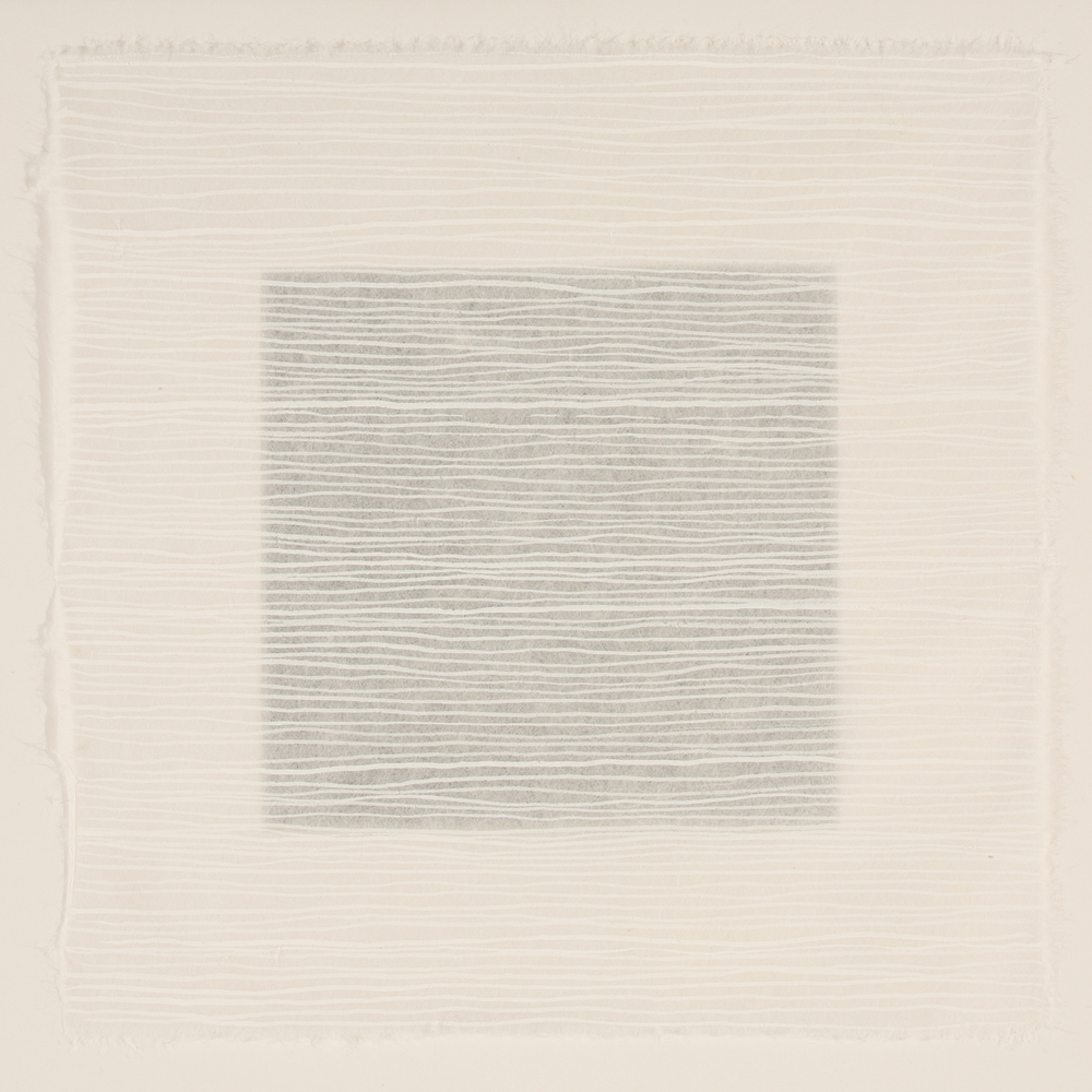 White #5 - rice paper grid