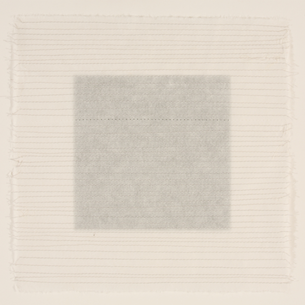 Stitched #4 - rice paper grid 2011