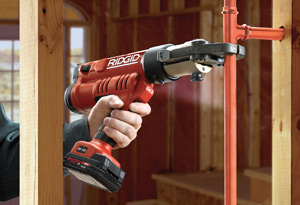 Pressing    RIDGID® pressing tools are unsurpassed in making quick and reliable connections on copper, stainless steel, PEX and multi-layer tubing.