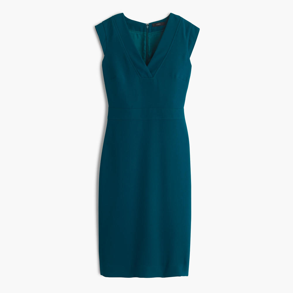 Drapey V-neck sheath dress.jpeg