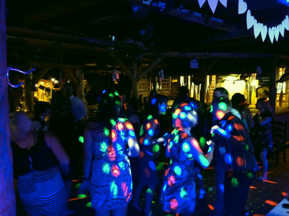 Dance floor lighting - As dark or as bright as you like.