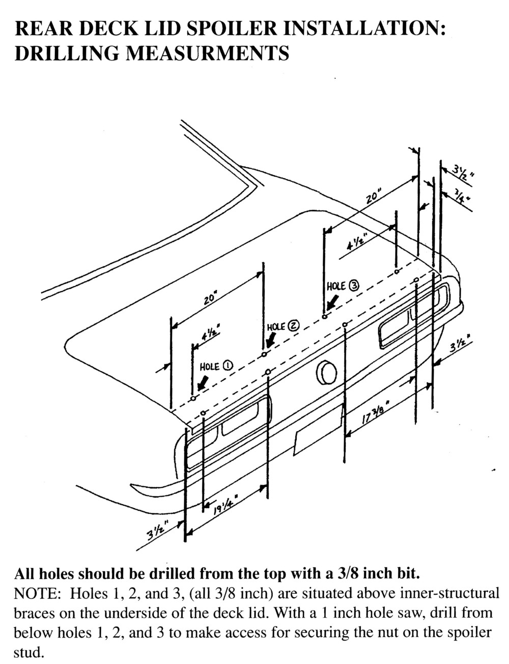 Technical Blog For Camaro Part Installation Steves Camaros 1968 Stearing Column Wiring Diagram Rear Spoiler