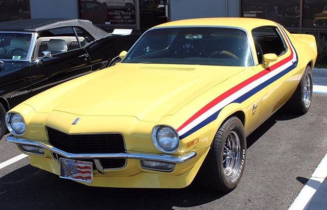 Steve's Choice: Gotta get me that '70s goodness. We love this second gen! It's a great example of a mild restoration with some tasteful graphics #stevescamaros #chevrolet #camaro