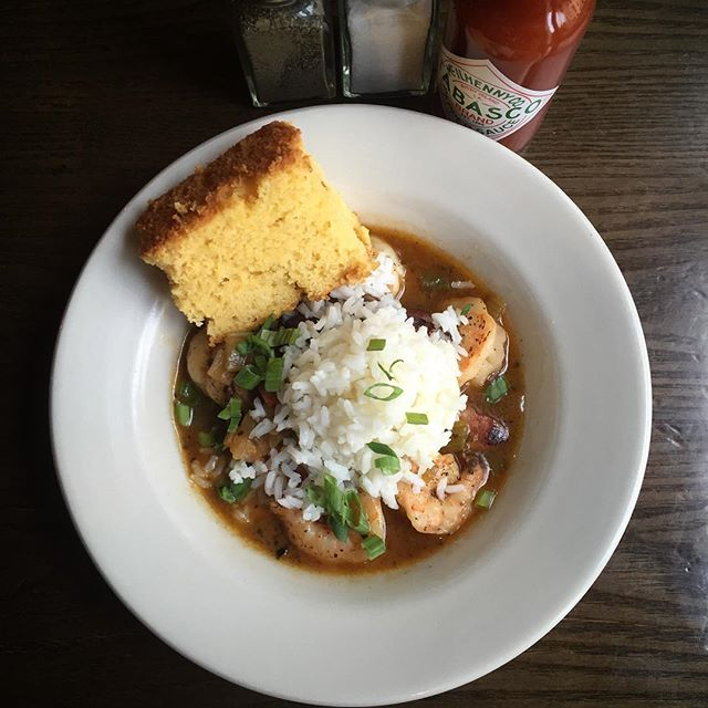Everybody's favorite classic from the Big Easy, GUMBO, now on the brunch and dinner menus. #greenpoint#gumbo