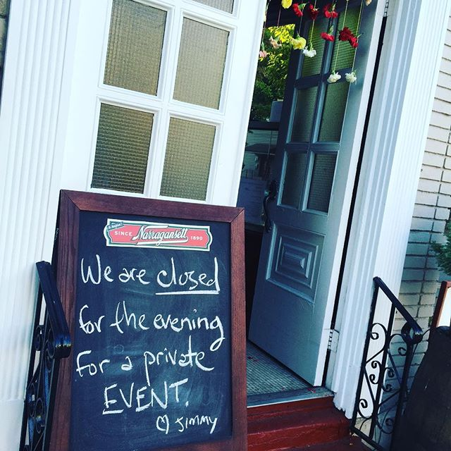 Hey everybody.  We'll be closed to the public this evening to help some friends celebrate a private event.  Have a great night and we'll see ya tomorrow. 😘