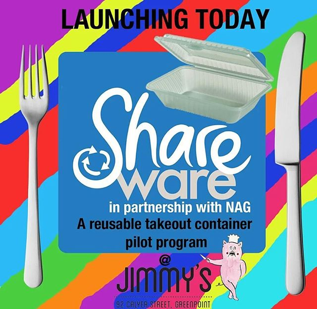 Today is the day! We're launching Shareware in Greenpoint, Brooklyn! Want to take the trash out of your takeout? This reusable takeout container pilot program is the answer to your wishes. Sign up today to get started, and Take Out The Waste! . #TakeOutTheWaste . #shareware #wastelessnyc #reusables #reusable #takeout #reusablecontainer #wastereduction #greenpoint #brooklyn #sustainability #environment #nyc #recycling #nycrecycles #restaurantrecycling #disposables #disposable #sharewarenyc