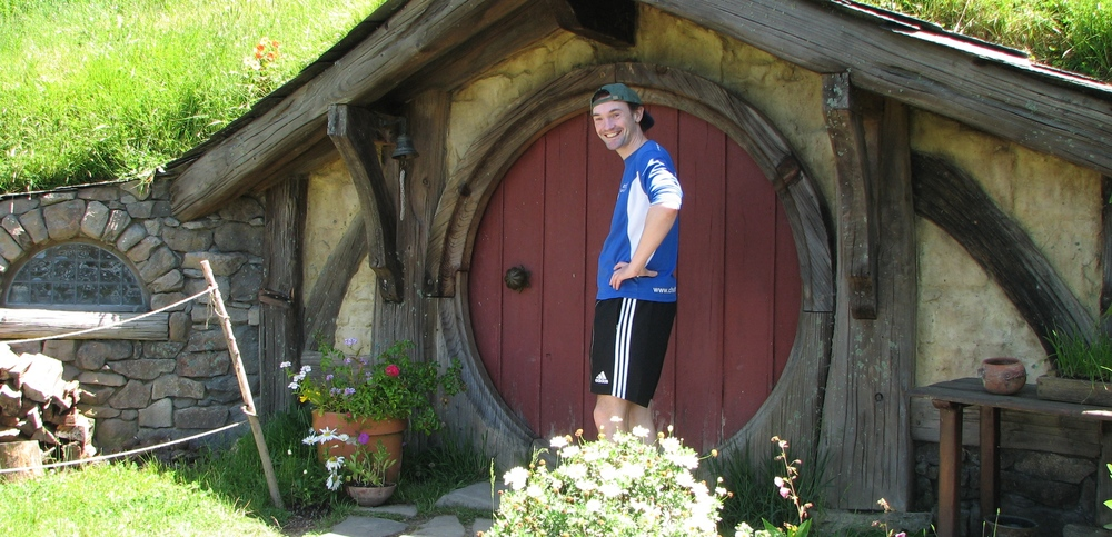 Our Managing Director visiting hobbit holes at Matamata, New Zealand.