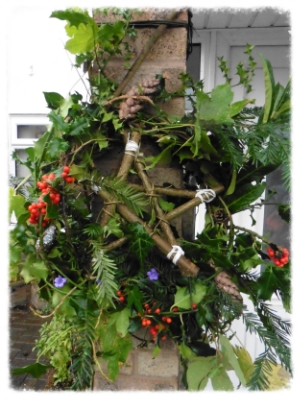 SEASONAL - Wreaths/decorations. Made by pupils with appropriate help/scaffolding.
