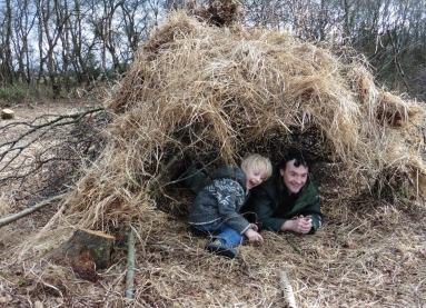 Den building on Pestfurlong Moss after conservation work!