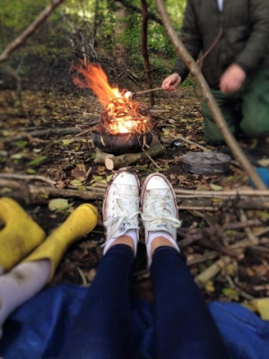 We have a 'Leave No Trace' campfire which you can cook on