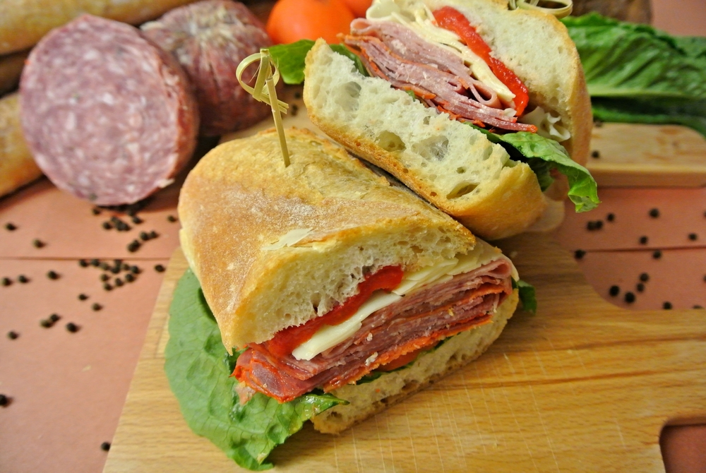 il padrino- a hearty sandwich with traditional Italian deli meats