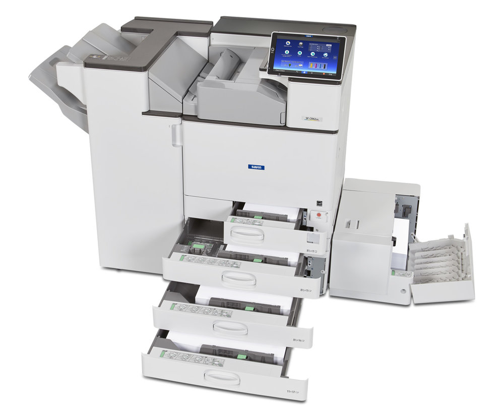 Savin SP C842DN PB3230+FD3000+SR3240+RT3030 Opn Drwr-2.JPG