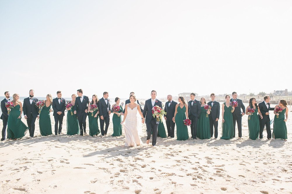 Beach Wedding day photographed by New Jersey and destination wedding photographer Ashley Mac Photographs
