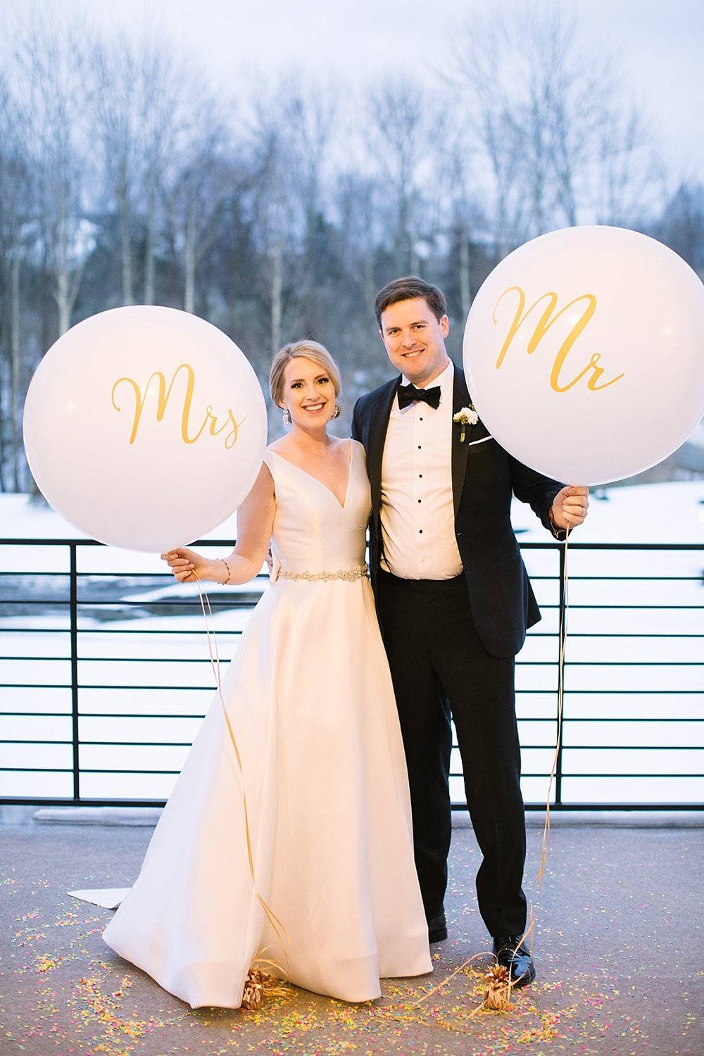 Winter Wedding day photographed by New Jersey and destination wedding photographer Ashley Mac Photographs