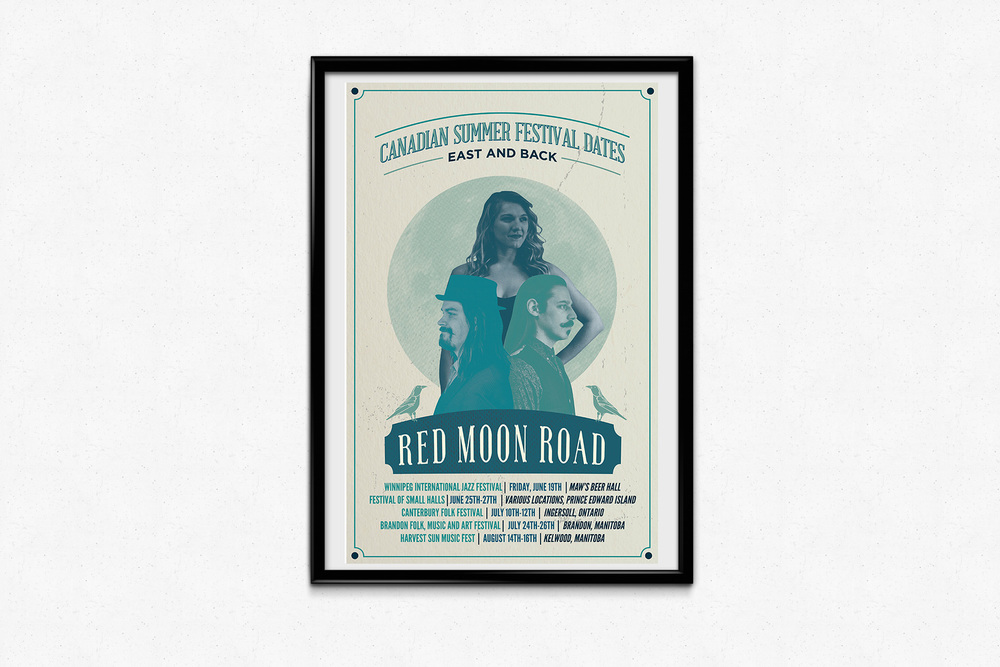 Red Moon Road Summer Tour Poster