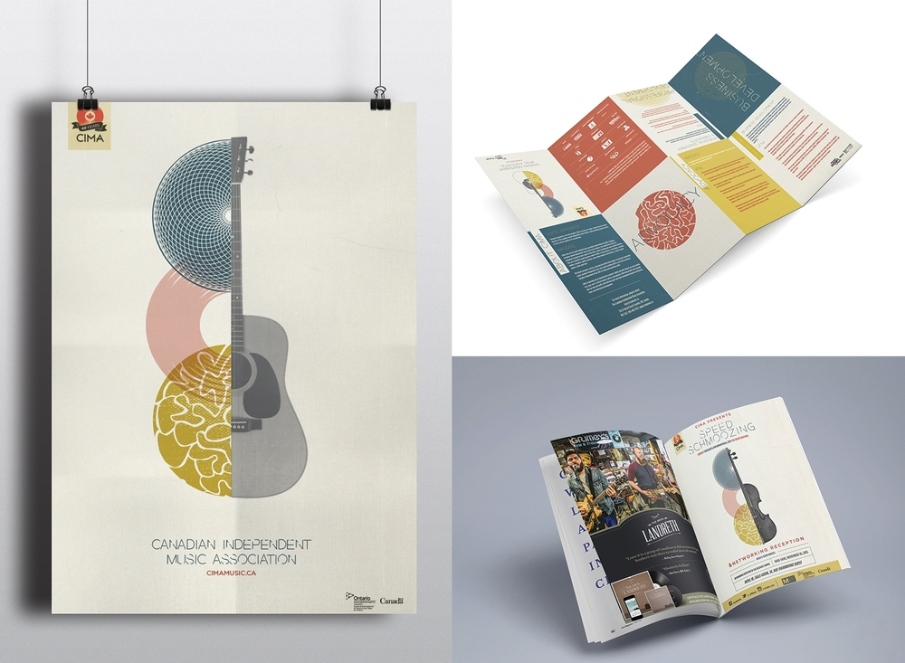 Brochure/Poster and ad for CIMA