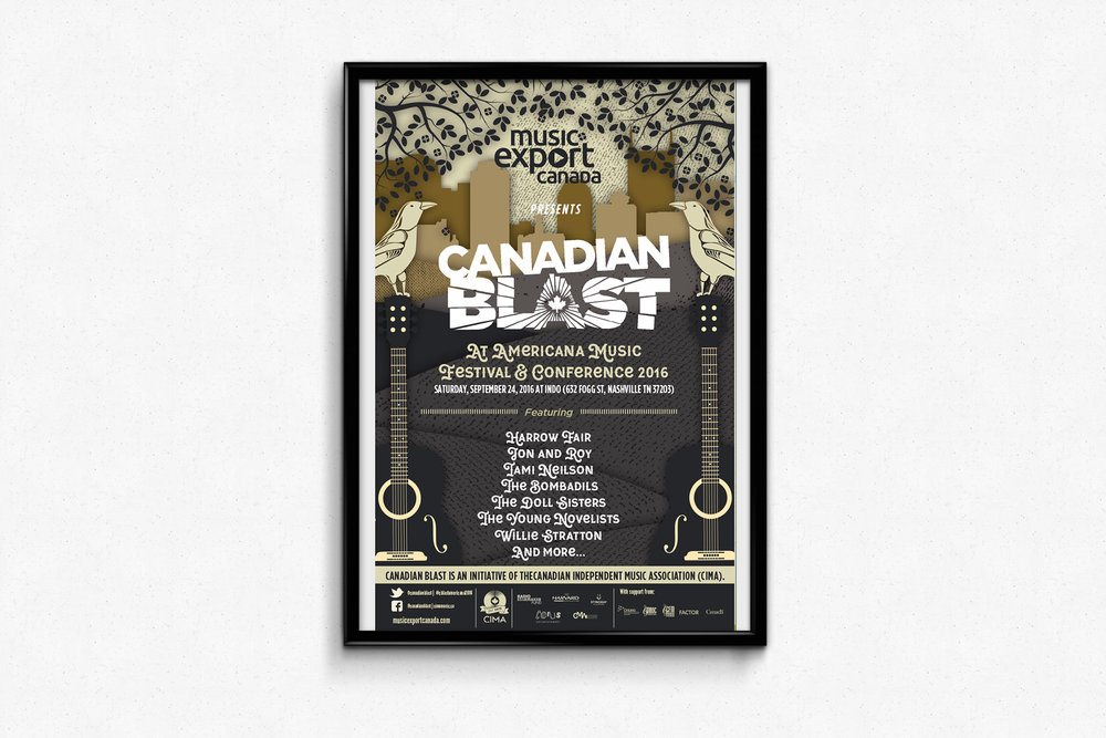 Canada Blast at Americana Music Festival
