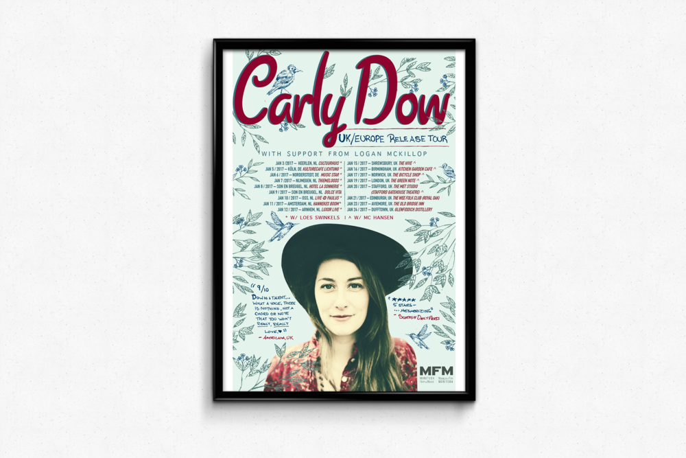 Carly Dow — UK Europe Tour