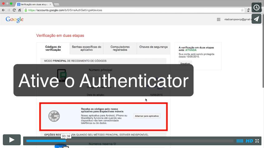 Tutorial:Autenticação em dois passos no Google e Evernote.