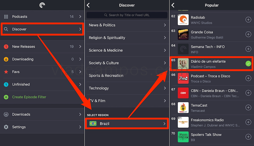 Pocket Casts / Discover / Popular