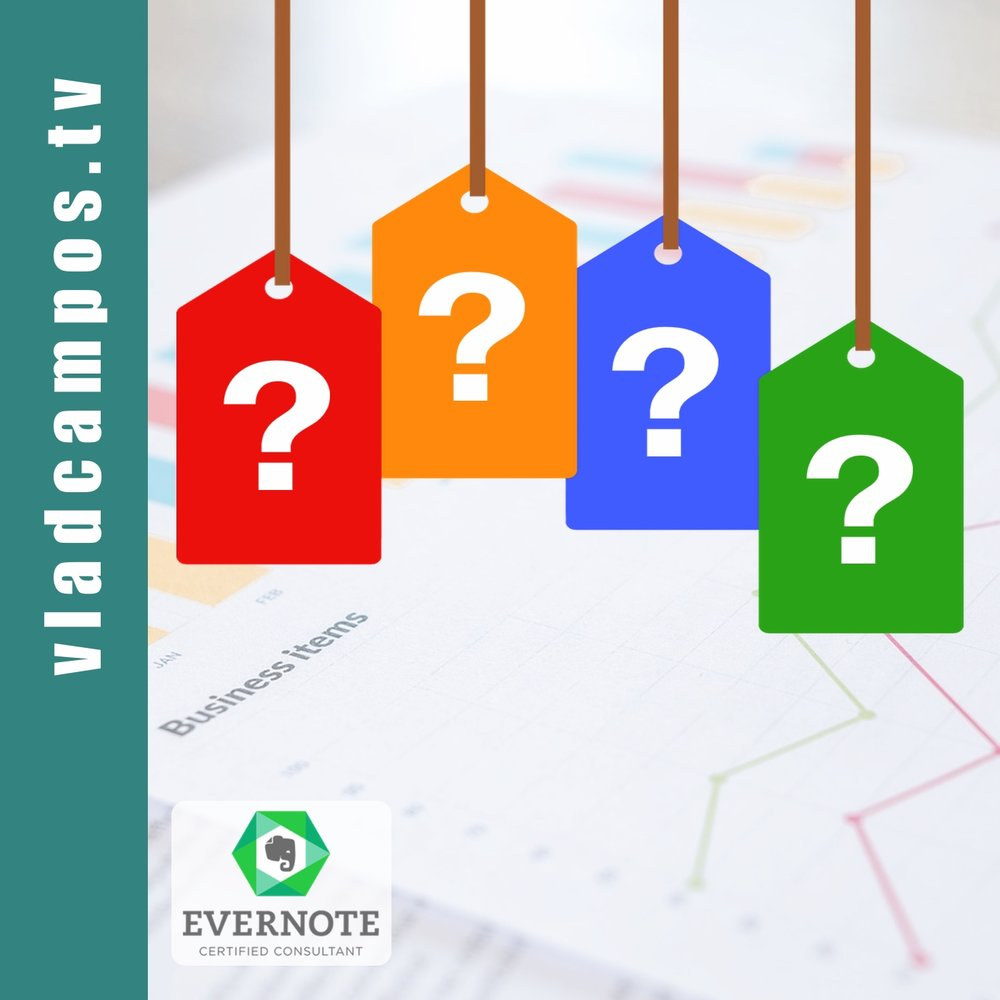 Etiquetas do Evernote