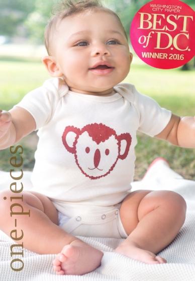 Organic Cotton Onesie Koala Handmade Made in the USA for Baby