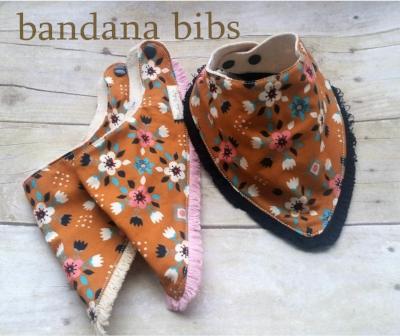 Handmade Bandana Bibs Drool Bib Fringe Organic Cotton Baby