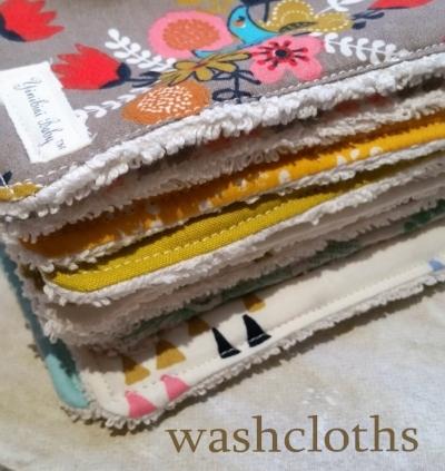 Organic Cotton Washcloths for Baby Boys Girls Handmade
