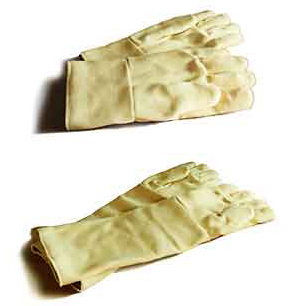 Heat Resistant Gloves Kevlar Gloves in 2 sizes to protect arms and hands from heat.