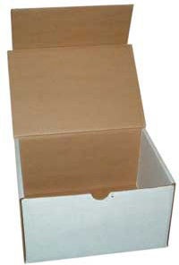 Crematory Mailers Die Cut Corrugated Boxes designed to fit our Latch Top Temporary Container for Mailing.
