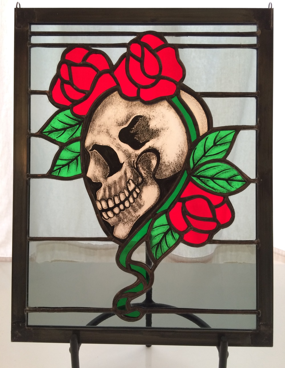 "SKULL & ROSES    8.5"" Wide x 11"" High  $225 + Shipping & Handling"
