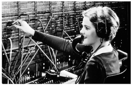 Early Telephone Operator
