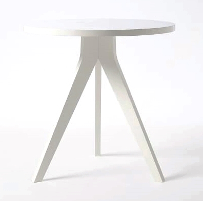 WHITE TRIPOD END TABLE | QTY 2 | $75