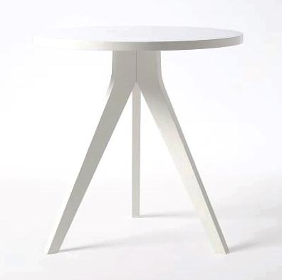 WHITE TRIPOD END TABLE | QTY 2 | $75