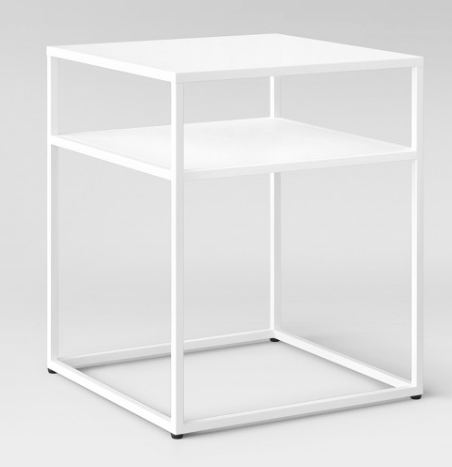 WHITE METAL STEEL FRAME END TABLE | QTY 6 | $35