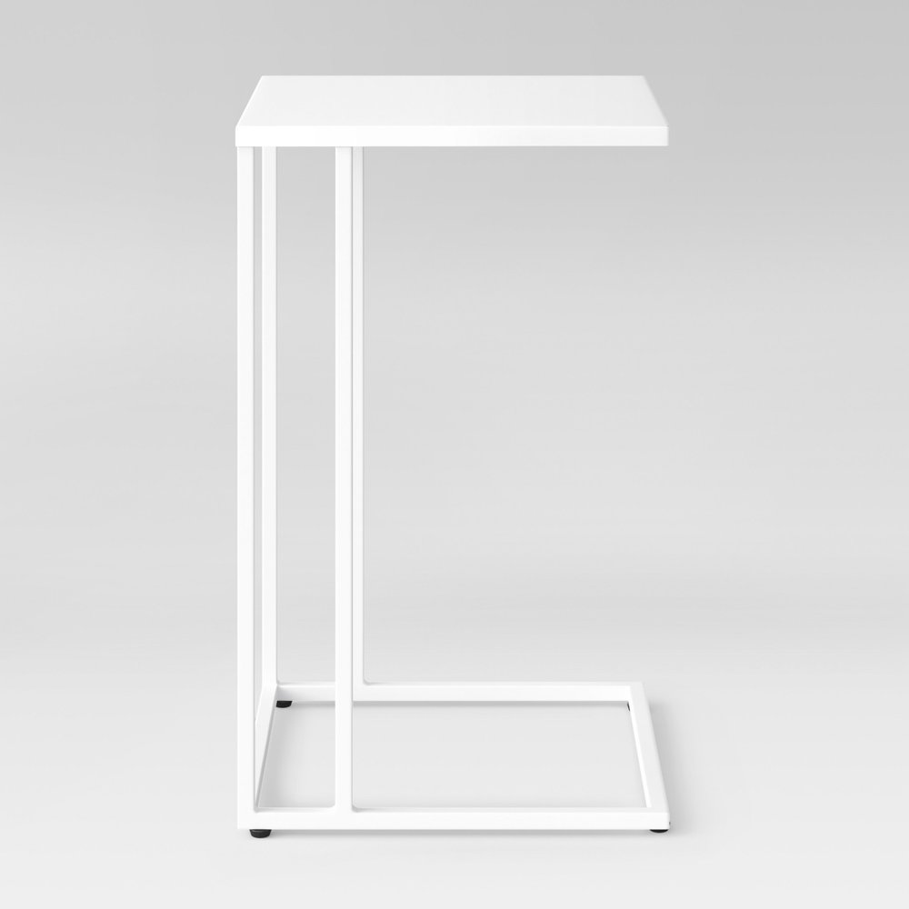 WHITE METAL STEEL FRAME C-TABLE | QTY 4 | $30