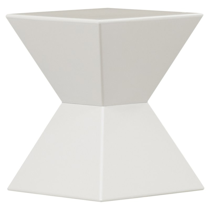 WHITE GEO END TABLE | QTY: 4