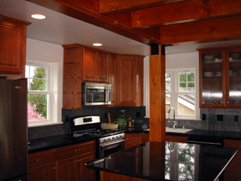Cherry and Granite Kitchen