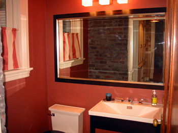 Red Powder Room