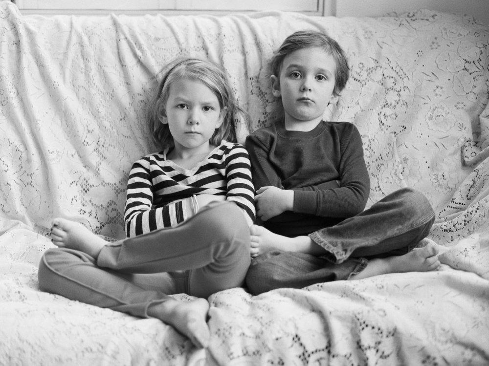 Leah & Children - Artistic Indoor Portraits