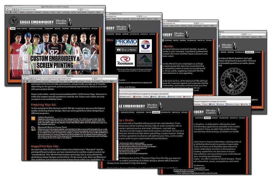 Eagle Prints Website — Bianca Erica Rodriguez - Visual Designer ...