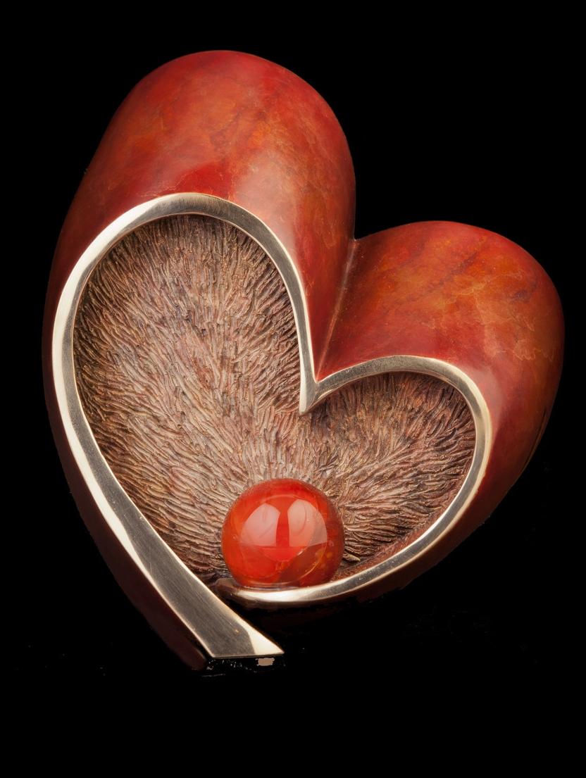 """Follow Your Heart Maquette (4.25"""" H x 3.75"""" W x 4.25"""" D)"""
