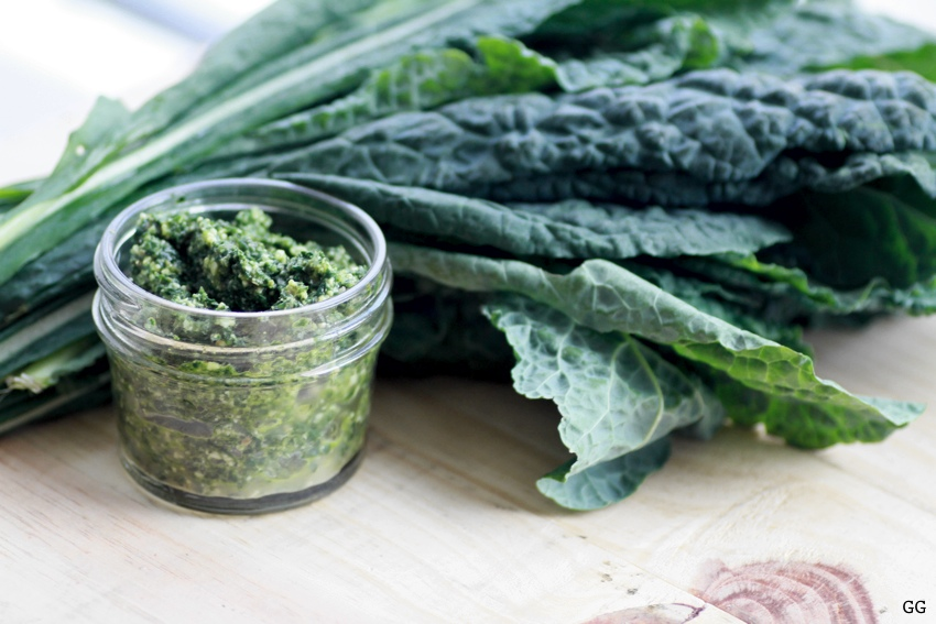 kale and pesto