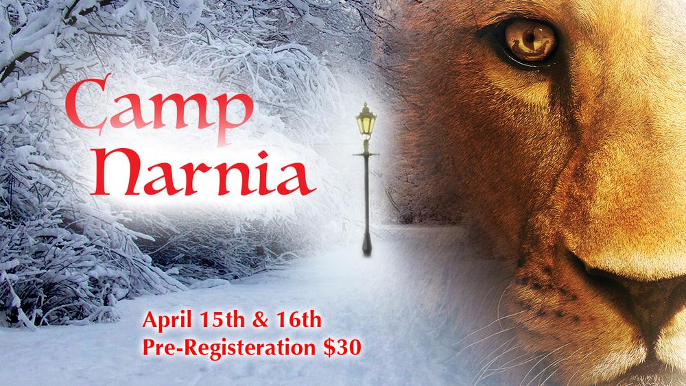 Kid'a Camp Narnia! April 15th and 16th