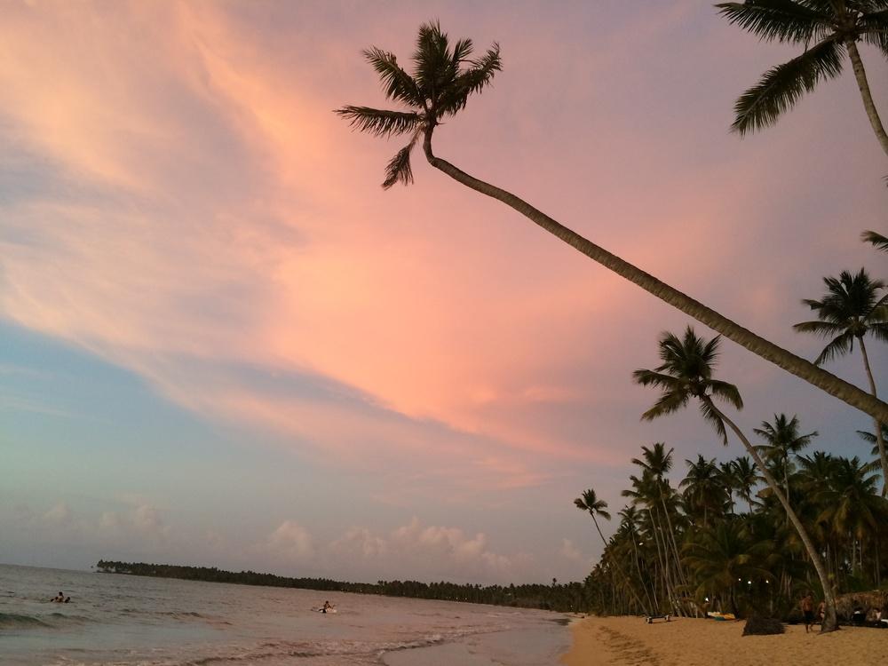 A beautiful sunset in samana, dominican republic